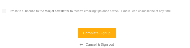Extremely tiny signup checkbox! I don't know why it's so small, considering it's an opt-in 🤷🏻‍♂️